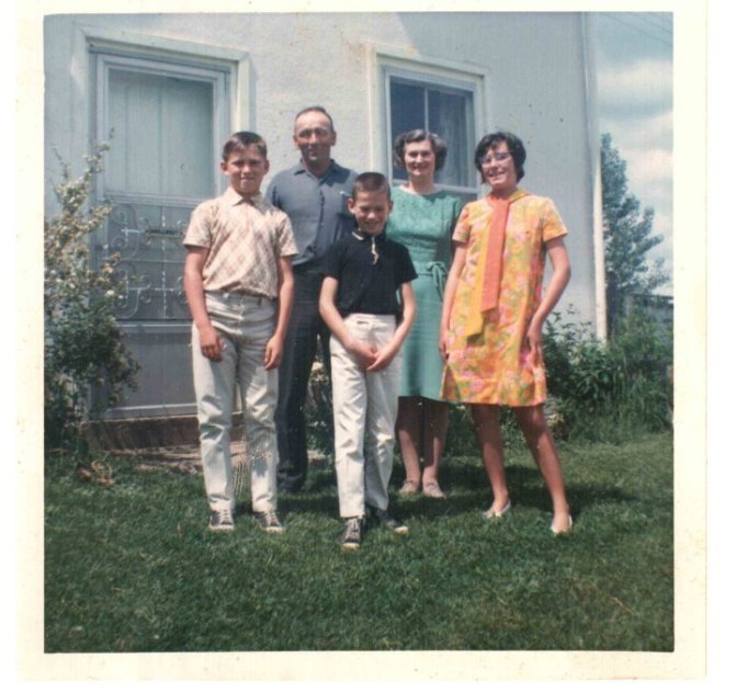 Family photo about 5 years before dad died. (I am the boy in black shirt). My mom was a widow for over 40 years. She never remarried, she never dated. In fact in all my years, I never saw her without her wedding ring off. That is love.