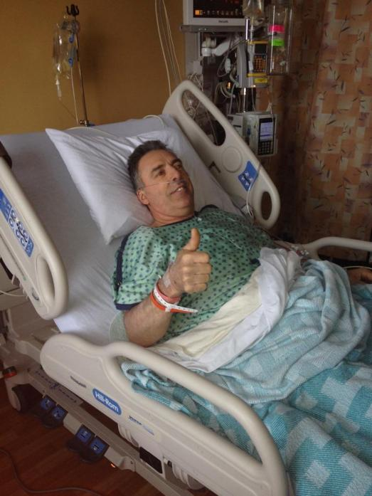 My friend Pierre following his prostate cancer surgery last May