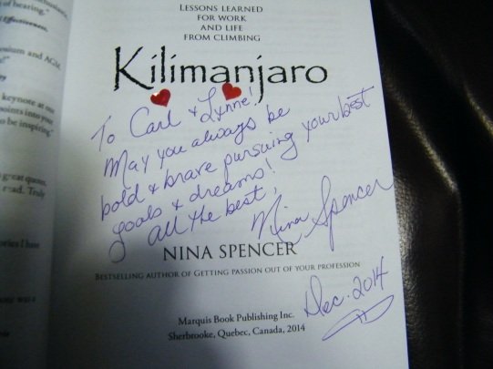 Personally autographed by author Nina Spencer!