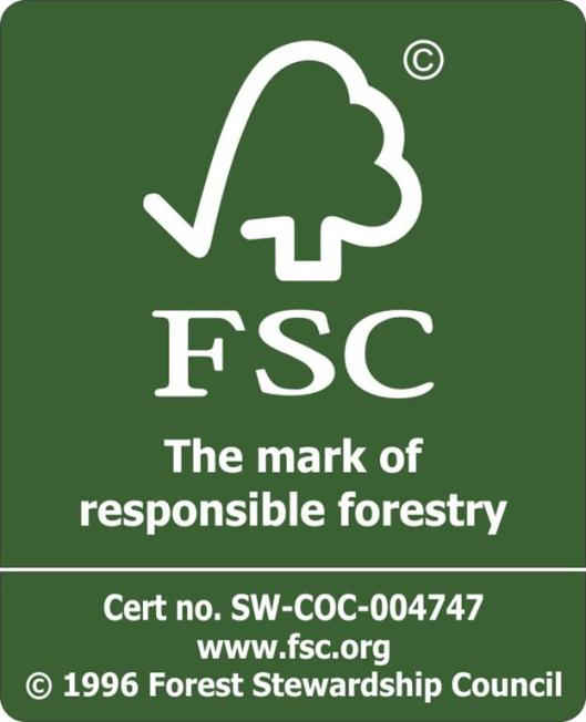 Look for the FSC symbol when purchasing wood and paper products.