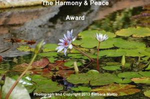 The Harmony and Peace Award