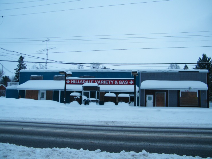 Our gas station and variety store.