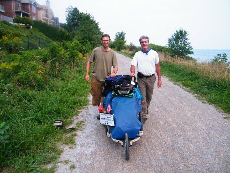 Photo taken with Jean Beliveau (Th World Wide Walker)September, 2011
