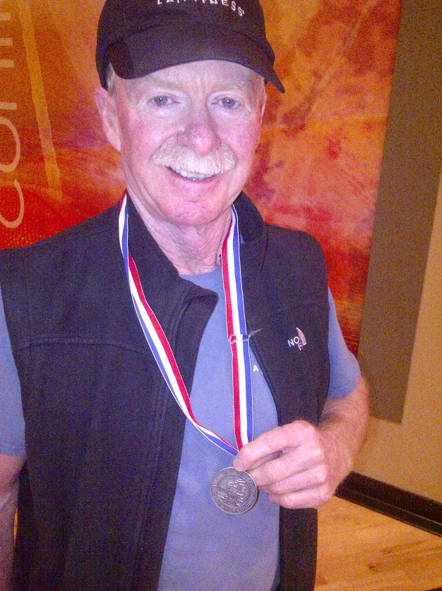 Bob with his 1983 Boston medal. I would not wear it, it is something earned.....and well, you just never know!