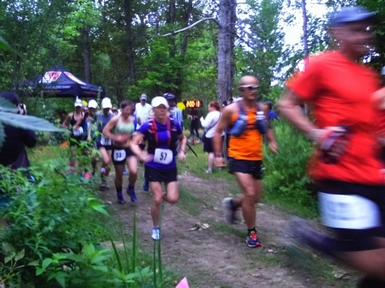 A blurry pix of the 50k runners very shortly into the race!