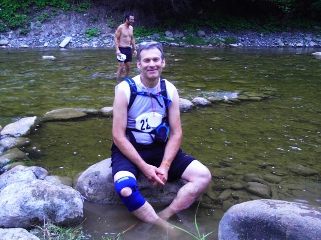 Greatly enjoying soaking my feet in the river! :)