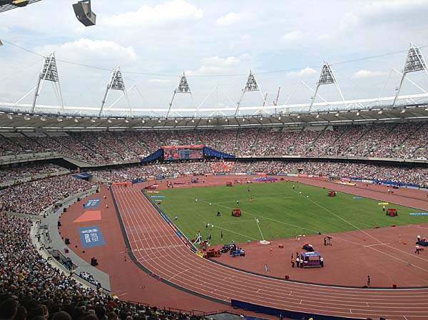 Olympic Stadium, London, England. Image via Manchester history