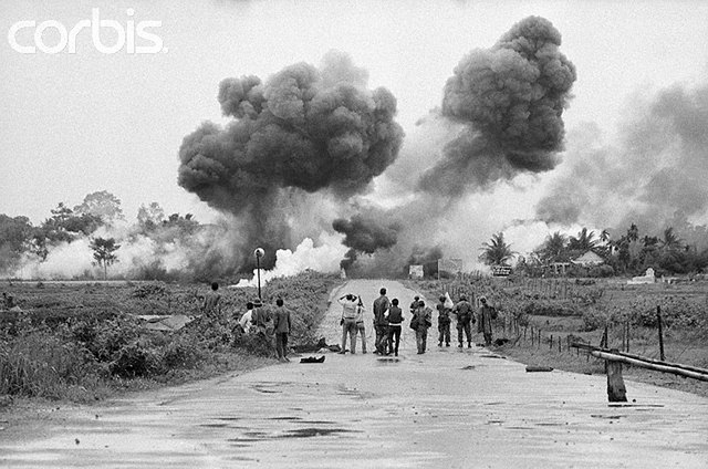 Trang Bang --- US Napalms Village in Error --- Image by © Bettmann/CORBIS