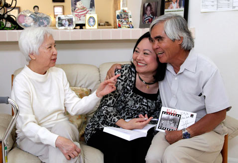 A wonderful reunion in 2012. Dr. My Le, Nick Ut and Kim Phuc.