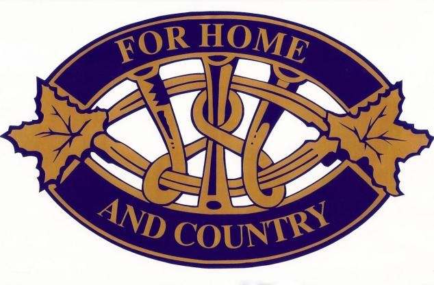 """For Home and Country"", the Women's Institute Logo."