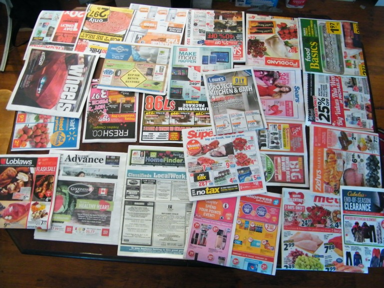 The hardest part of the paper delivery job was sorting and inserting flyers.