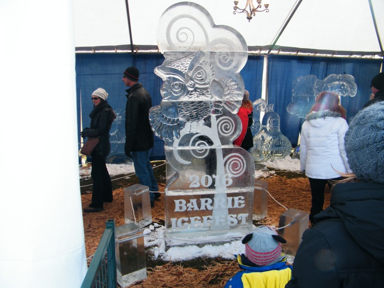 Taken a week ago at the Barrie Icefest 20216, it is hard to believe these exquisite, stunning sculptures are carved out of solid block of frozen water.