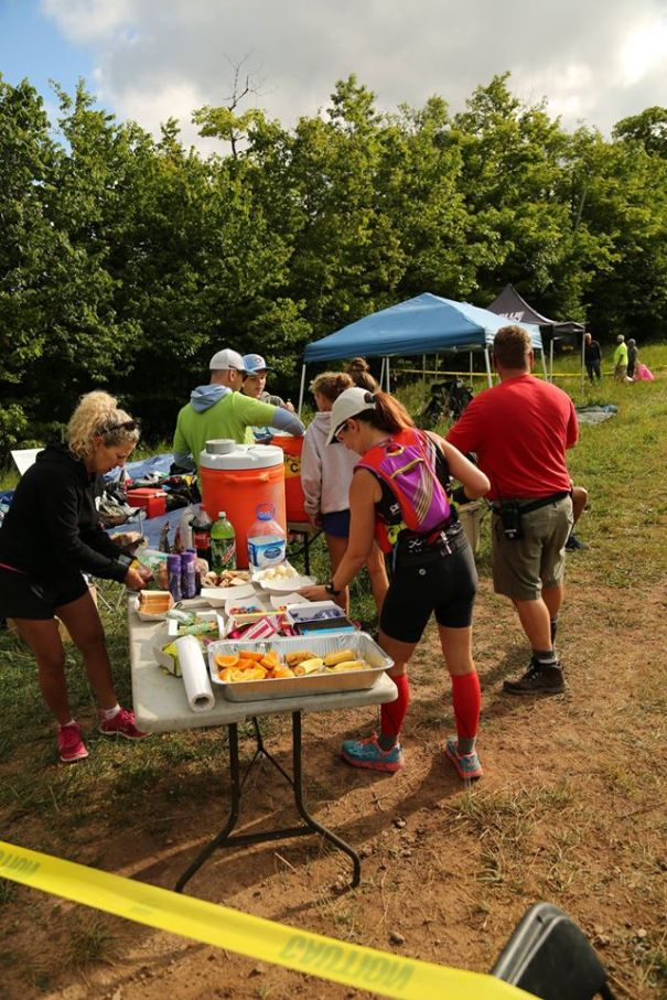 Aid Station. Photo Credit North Face Endurance Challenge Facebook photo gallery