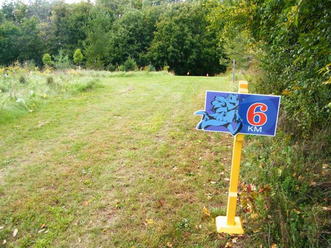 Some parts of the course ran along the edges of fields with the grass trimmed nice and short.