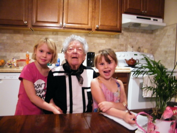 Photo just taken a couple of days ago Isabel is adored by so many people (including her great grandchildren) :)