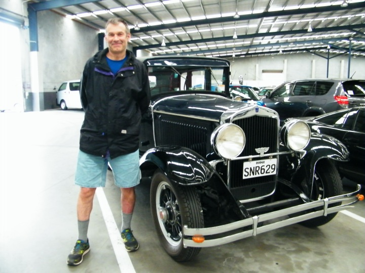 Have so much admiration for people who have the know how and patience to painstakingly restore a vintage car or antique car such as this one. Car is at a car lot called Turners in Christchurch, the largest car lot I have ever seen. The majority of cars like this antique are up for auction.