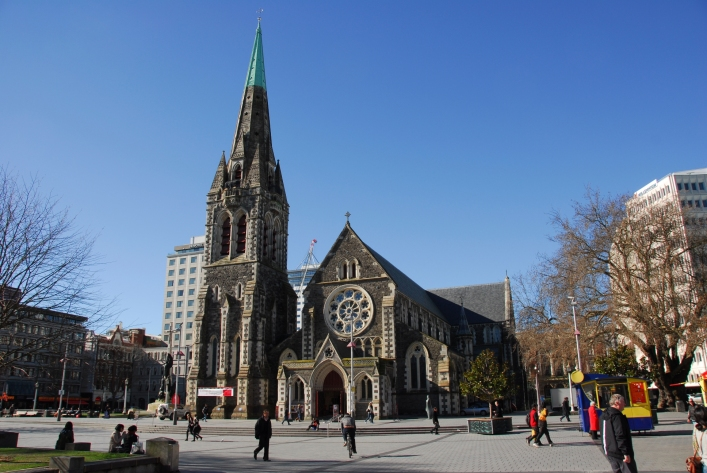 The magnificent Christchurch cathedral before the Feb. 22, 2011 earthquake. Image Source.